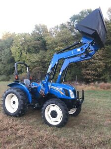 New Holland Workmaster 50 Tractor Pto Loader 4x4 Quick Attach Farm Shuttle Shift