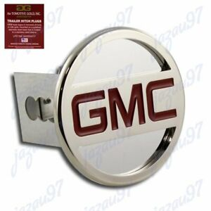 For Gmc Stainless Steel Chrome Hitch Cover Cap Plug For 2 Trailer Tow Receiver