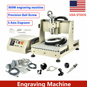 5 Axis Cnc Aluninum Ball Screw Router Engraver 3040 Engraving Milling Machine Us