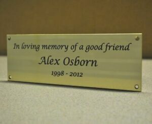 Customized Engraved Solid Polished Brass Name Plate Sign Plate Different Size