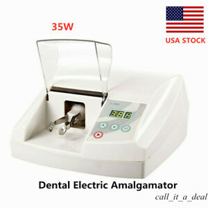 35w Dental Lab Electric Amalgamator High Speed Amalgam Capsule Mixer Blender New
