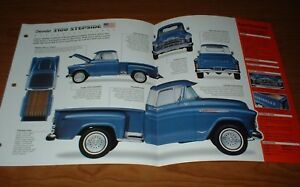 1957 Chevy 3100 Stepside Original Imp Brochure 57 265 Pickup Truck Apache Gm Gmc