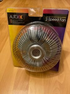 Auto Fx 12 Volt Auto Fan 2 Speed Oscillating Sc713 60 Nos New