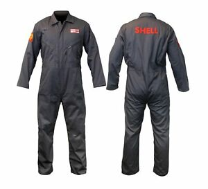 Overalls Shell Motor Oil Coverall Retro Heritage Boiler Suit Grey Ca