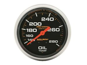 Auto Meter 5443 Pro comp Oil Temperature Gauge 2 5 8 Full Sweep Liquid Filled
