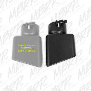 Mbrp Tip Rectangle Angled Cut 3 O d Inlet Pass Side Blk T5120blk