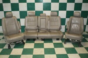 00 06 Tundra Crew Tan X Sp Leather Manual Front Buckets Rear Bench Seat Set Oem