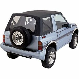 Suzuki Sidekick Geo Tracker Vitara 1986 1994 Replacement Soft Top Black clear