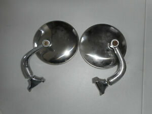 2 Vintage Auto Side Rear View Mirrors 4 Dia 1930 s Chevy Buick Ford