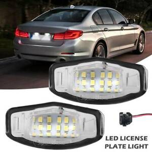 2pcs 18 Led License Plate Light Lights For Honda Accord Civic Mr V Pilot Odyssey
