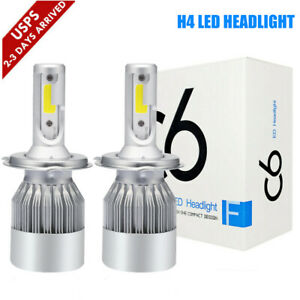 H4 9003 Hb2 Led High Low Beam Headlight Kit 390000lm 2600w Bulbs 6000k White C9