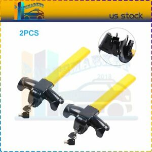 2 universal Auto Car Anti theft Security Rotary Steering Wheel Lock Serviceable