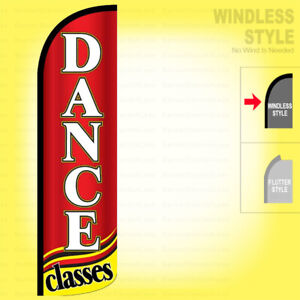 Dance Classes Windless Swooper Flag 3x11 5 Ft Feather Banner Sign Rq