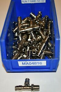 Lot Of 53 Camozzi Tee Connector Fittings 6540 53 02