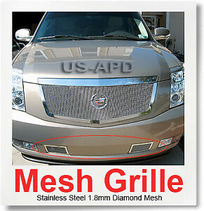 For 07 2011 Cadillac Escalade Bumper Stainless Mesh Grille