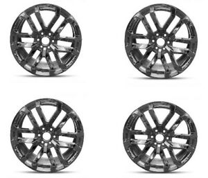 Set 4 20 Chrome Wheel Fits 2019 Chevy Gmc 6 Lug Trucks 20x9 6x5 5 28mm