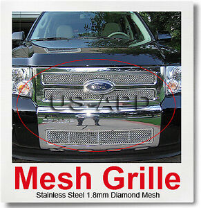 For 08 11 2011 Ford Escape Stainless Mesh Grille Combo