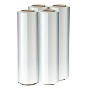 4 Rolls 18 X 1500ft 80ga Pallet Wrap Stretch Film Shrink Hand Wrap
