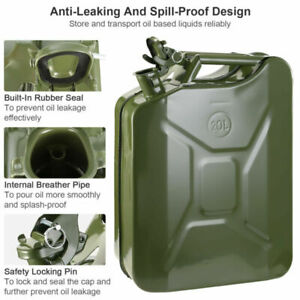 Jerry Can 5gallon Gas Gasoline Fuel Army Emergency Backup Tank Spill Proof Us