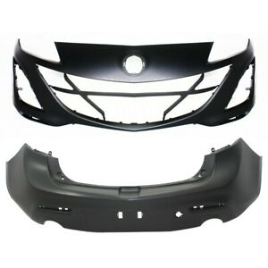 Set Of 2 Bumper Covers Front Rear For Mazda 3 10 11 Ma1000224 Ma1100204 Pair