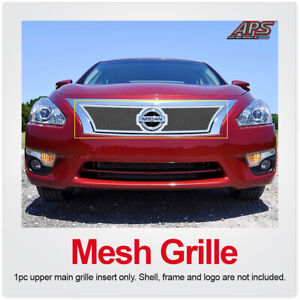 Fits 2013 2015 Nissan Altima Upper Stainless Steel Mesh Grille Insert