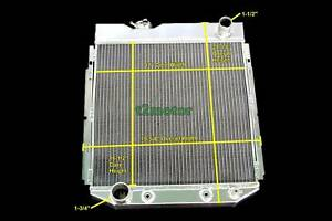 3 Row Aluminum Cooling Radiator For 1960 66 Ford Mustang Comet Falcon 302 V8