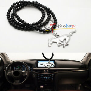 1 Us Pony Horse Car Rearview Mirror Hanging Ornament Pendant For Ford Mustang
