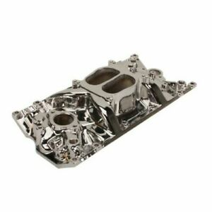 Sbc Small Block Chevy Chevy Cyclone Polished Aluminum Intake Manifold Vortec