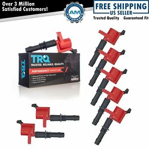 8 Piece Premium High Performance Engine Ignition Coil Kit For Ford Lincoln New