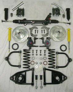 1953 1956 Ford F100 Mustang Ii Power Front End Suspension Kit 2 Drop Slotted