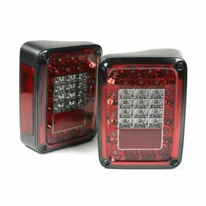 Rugged Ridge Led Tail Lights smoke Jeep Wrangler Jk 12403 88