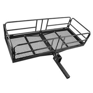 Steel Cargo Carrier Rack For Hauling 360 Lb Capacity With High Side Rails New