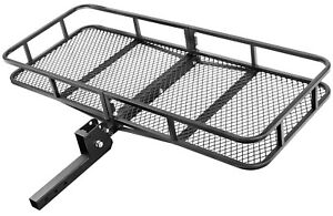 Universal Hitch Mount 60 x 24 Cargo Rack Carrier Luggage Basket 2 Receiver