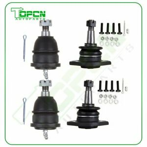 4pc Front Upper Lower Ball Joint Fits Buick Chevy Oldsmobile Apollo Nova Omega
