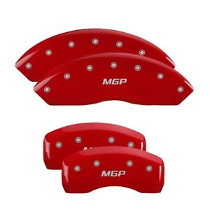 Fits 2016 Infiniti Qx50 Red Mgp Disc Brake Caliper Covers Front Rear 37026smgprd