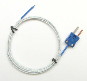 T type Thermocouple Wire Sensor For Digital Thermometer Probe Fiberglass Pt 400