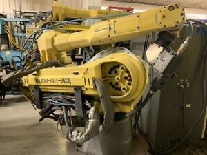 Fanuc Arcmate 120ic 10l 6 Axis Robot With R30ia Control Lincoln I 400 Welding