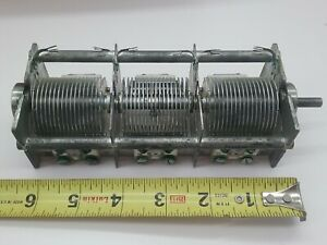 1 Nos Hammarlund 3 gang Variable Capacitor 3 X 35 240pf For Ham Radio Vintage