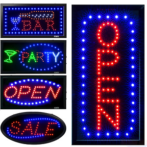 19x10 led Open Sign Neon Light Board Animated Motion W On off 2 Modes Flashing