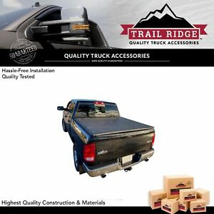 Trail Ridge Hard Tri fold Tonneau Cover For Dodge Ram Pickup 6 4ft 78 Inch Bed