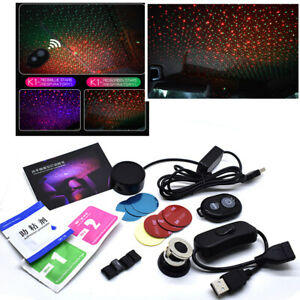 Remote Car Interior Led Night Light Red green Star Projector Atmosphere Lamp rc