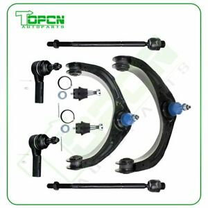 For Dodge Ram 1500 8x Front Upper Control Arms Ball Joints Tie Rod Ends Set