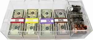 Currency Tray Acrylic With Coin Tray Insert