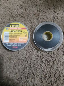 Lot Of 10 Rolls 3m 06132 Super 33 3 4 X 66 Black Vinyl Electrical Tape