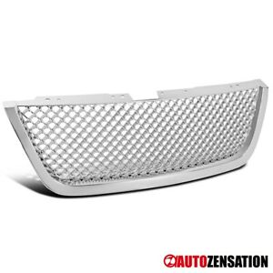 For 2007 2012 Gmc Acadia Suv Chrome Honeycomb Mesh Style Bumper Hood Grille 1pc