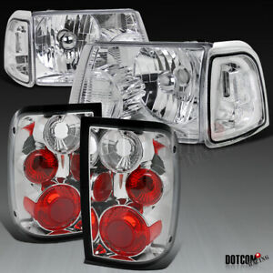 For 2001 2005 Ford Ranger Clear Headlights corner Lamps rear Tail Lights Pair