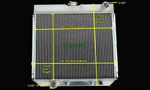 Tri core Aluminum Cooling Radiator Fit 67 70 Ford Mustang Falcon Fairlane V8 339