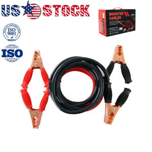 Heavy Duty Jumper Booster Cables Commercial Grade Battery 4 Gauge 10ft 1000 Amp