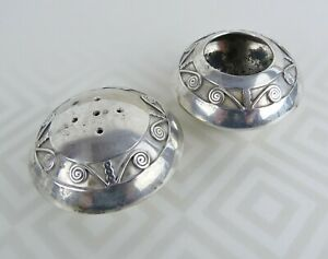 Vintage Navajo Native American Sterling Silver Salt Cellar Pepper Shaker