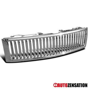 For 2007 2013 Chevy Silverado 1500 Sport Chrome Vertical Front Hood Grille